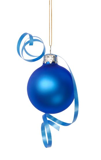 Christmas bauble isolated on white