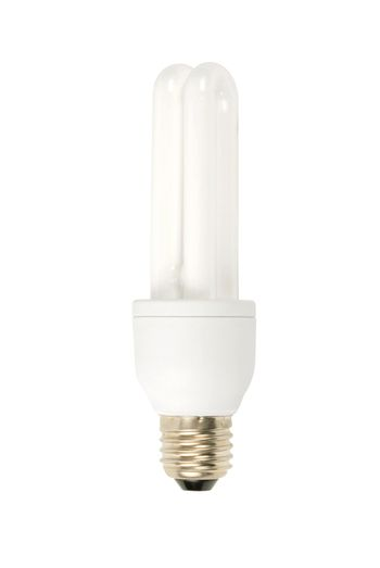 Macro of electric bulb isolated on white