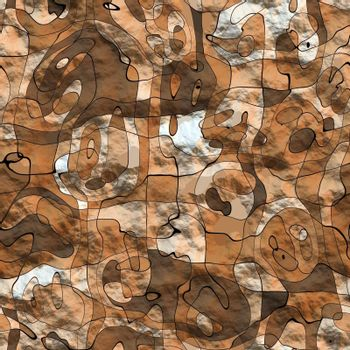 abstracted animal shapes like a fresco on an old wall