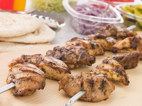 Marinated Chicken Kebab On A Skewer