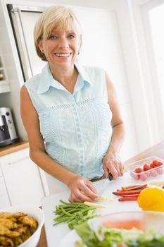 Woman Preparing meal,mealtime