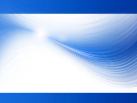 blue waves on white backdrop