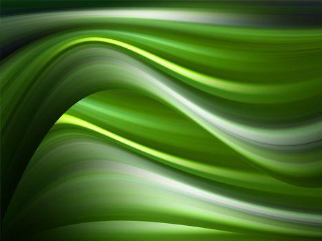 green waves movement representation style