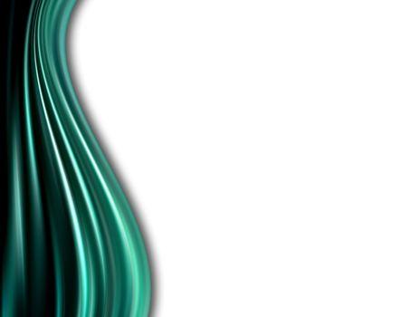 blue dynamic waves on white background
