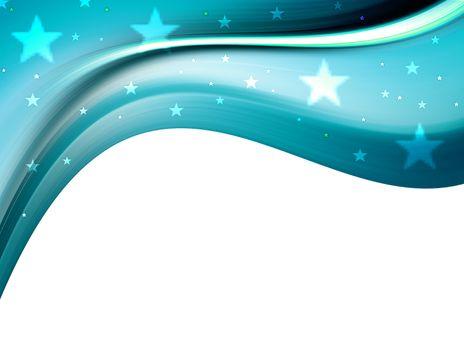 blue satrs on white background