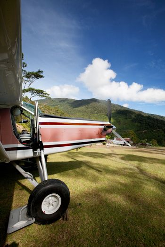Airplane on Mountain Runway