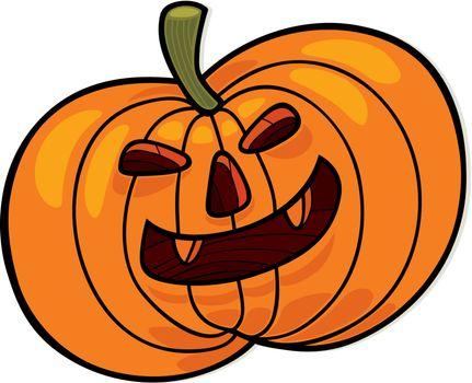 cartoon vector illustration of halloween pumpkin