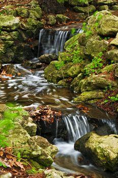 Creek with waterfalls