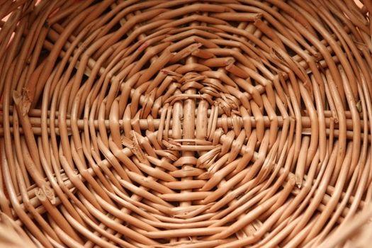 circular wicker basketry handmade
