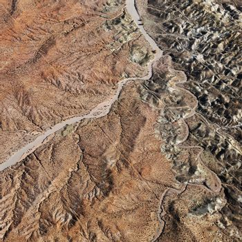 Aerial view of Grand Canyon National Park in Arizona, USA.