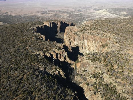 Arizona desert aerial.
