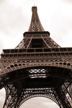eiffel tower,  the most famous monument of Paris, France