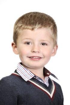 4 year old boy portrait.