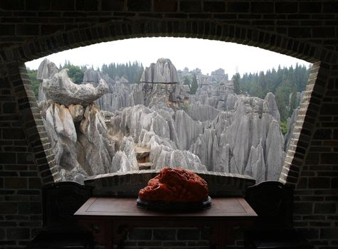 Stone forest national park in Yunnan China