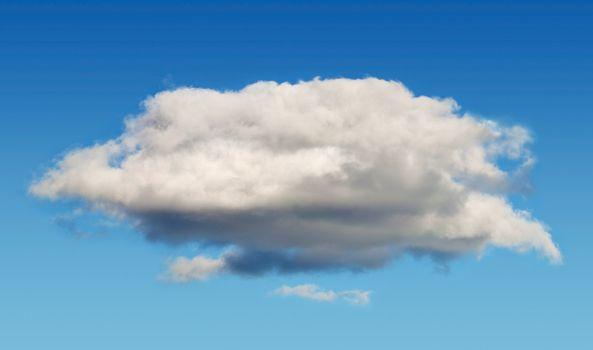 One cumulus cloud in sky