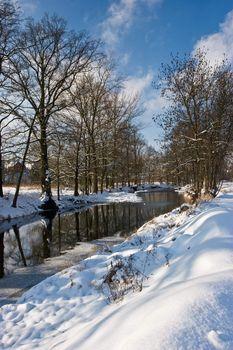 River in wintertime