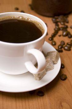 coffee, sugar and beans