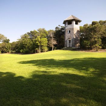 Lookout tower at park in Bald Head Island, North Carolina.
