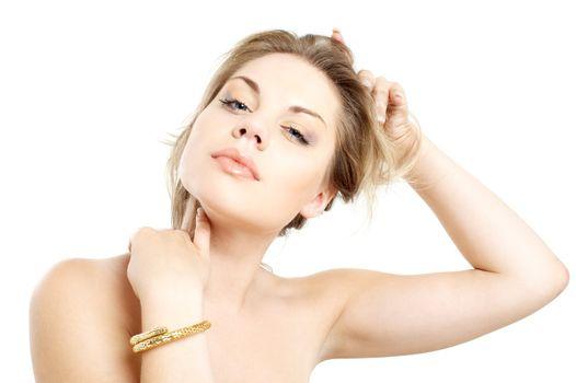 golden bracelet girl