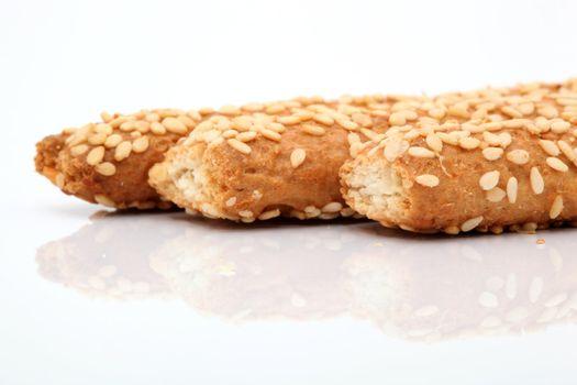 sesame bagel detail