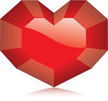 Diamond Heart. Vector Illustration