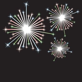 Vector firework in honor of Independence Day. Vector Illustration