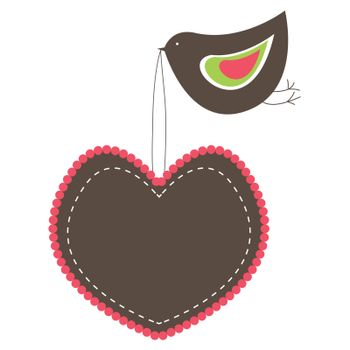 Heart Shaped banners. vector illustration