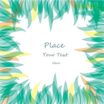 Abstract color leaf background. vector illustration