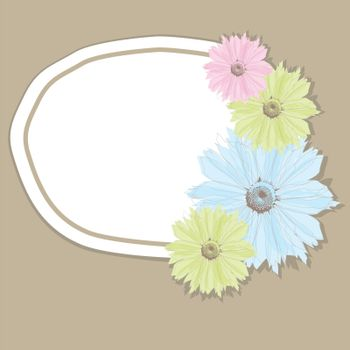 Abstract background with pastel flowers. vector illustration