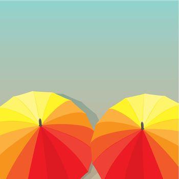 Umbrellas. Vector illustration