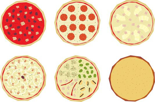 Pizza with toppings 4