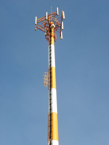 antenna tower in background sky