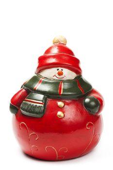 red fat snowman