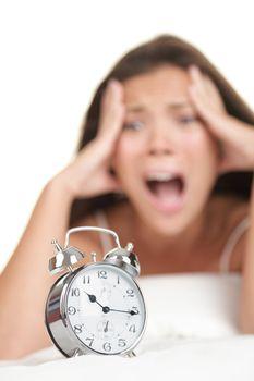 Alarm Clock Woman Late