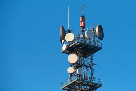 TV and radio transmitter. Communication tower