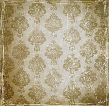 Vintage wallpaper with floral design