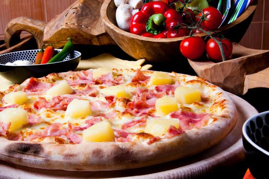 cooking, ananas, italian, food, pizza, cheese - D1653441
