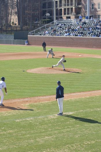 The opening weekend of baseball for the University of North Carolina in the new baseball stadium. Carolina played Virginia Military Institute.