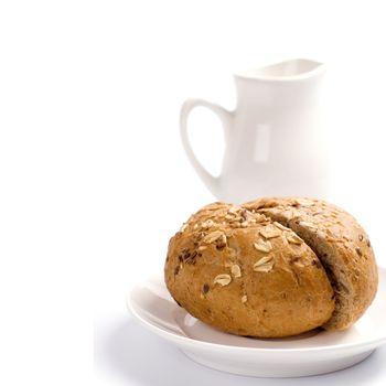 bread and jug of milk