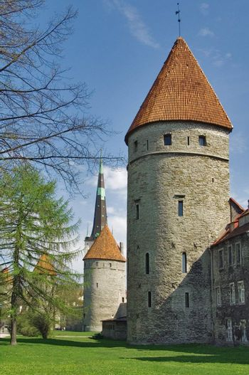 Tallinn. Towers in a fortification