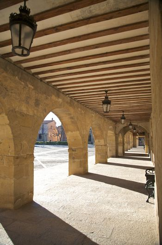 ancient stone arcade