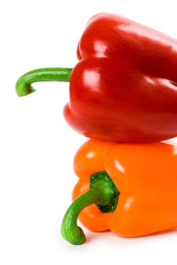 two bell peppers