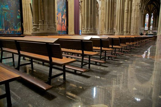 pew in cathedral