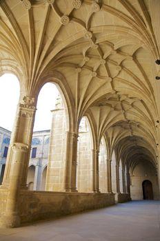 row of ancient columns