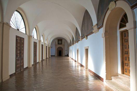 wide monastery corridor