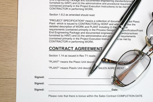 Contract signing