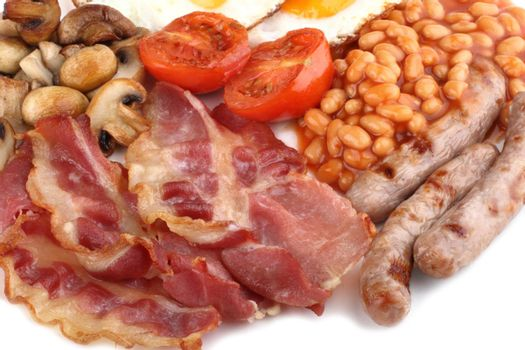 Traditional English breakfast close-up