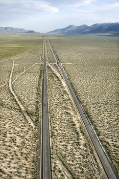 Desolate scenic highway.