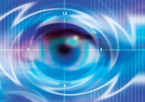 illustration of technology concept background digital eye