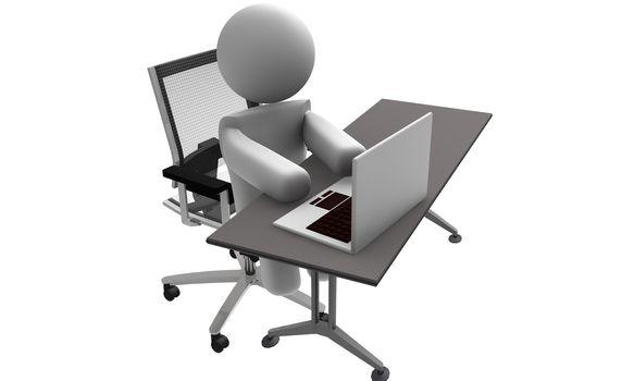 Figure in office